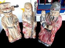 HAND CARVED ASIAN 3 Wise Men VERY VERY NICE. UNKNOWN WOOD TYPE