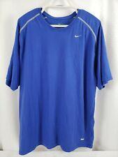 Nike Team Dri-Fit Royal Blue Men's Workout T-Shirt Size XL