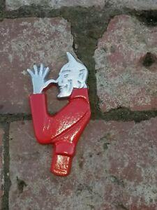 RED DEVIL HEAD LICENCE PLATE TOPPER,HOTROD ,CUSTOM,CHOPPER, BOBBER