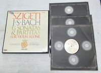 VANGUARD BG 627/9 JS BACH 6 VIOLIN Sonatas/Partitas SZIGETI 3LP VG