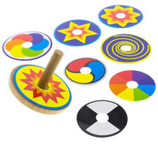Spinning Tops Funny Wooden Multicolor Decompression Toy for Children Adults CO