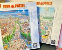 Jigsaw Puzzle-1000 Pieces-King-Barcelona-Bahamas-by John Lodi-Comic-Games-Family