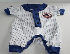 New York Mets Majestic Kids 3/6 Months White One Piece