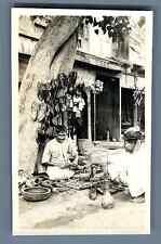Pakistan, Peshawar (پشاور), The Mochi (Shoemaker)  Vintage silver print. Mochi a