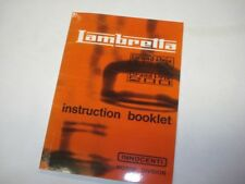Lambretta GP 150 200 Owners Manual English Text Instruction Booklet (1FB100)