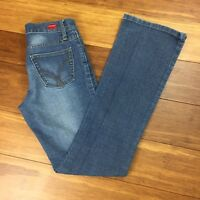 Vigoss Women's Junior Sz 1 26x31 London Blue Light Blue 5 Pocket Stretch Jeans