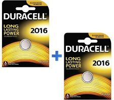 DURACELL BATTERIA DL2016 PILA BOTTONE A LITIO 3V CR2016 PILA BOTTONE KIT 2 PEZZI