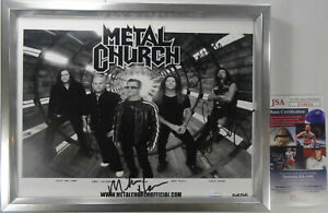 SIGNED METAL CHURCH AUTOGRAPHED PHOTO FRAMED CERTIFIED AUTHENTIC JSA # II10034