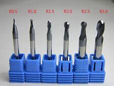6PCS Ball Nose End Mills set diameter 1mm - 6mm HRC45 2 flutes tungsten Carbide