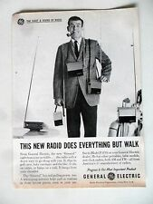 General Electric GE Radio Print Ad 1961 Does Everything But Walk
