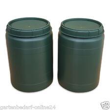 2 Stück 60 Liter Futtertonne Vorratsfass Kunststofffass Plastiktonne NEUWARE