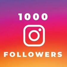 1000 Followers -increase your social profile in 24 hours