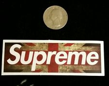Supreme sticker *** union jack logo sticker *** skateboard sticker