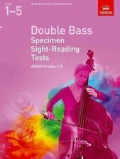 ABRSM Double Bass Specimen Sight Reading Tests, Grade 1-5 - Same Day P+P