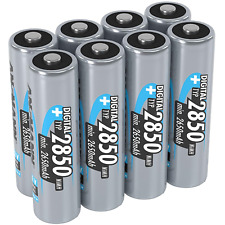 ANSMANN AA Rechargeable Batteries [Pack of 8] 2850 mAh NiMH High Capacity AA