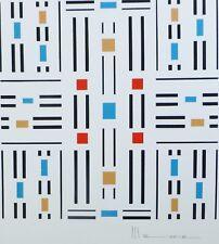 OSCAR MAXERA geometric composition HAND SIGNED ORIGINAL SERIGRAPH Argentina