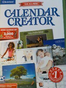 Broderbund Calendar Creator V13 for Windows & Mac SEALED Retail Box NIB