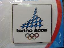 Torino 2006 Olympic Pin-white square