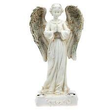 Solar Powered Beautiful Praying Angel Statue 2 Yellow LED Garden Light
