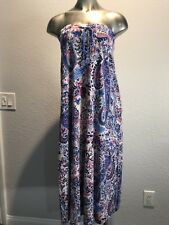 Tommy Bahama women's maxi halter long dress floral pattern XS multi color NWOT