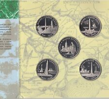 UKRAINE PROOFLIKE 5 X 200000 KARBOVANETSIV MINT COINS SET 1995 YEAR SHIP + COA