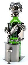 NEW Bar Bartender Mixologist Silver Wine Bottle Holder Metal Gift Birthday zb210