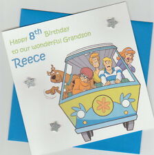 Personalised Handmade Scooby-Doo 1st,2nd,3rd,4th,5th Birthday Card