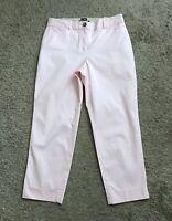 "TALBOTS Womens Size 4 Pink Perfect Crop Curvy Cotton Blend Pants 25.5"" Inseam"