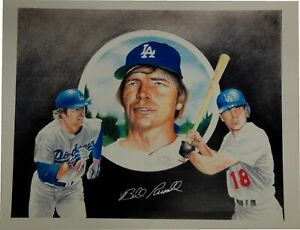 Bill Russell Signed Autographed 11x14 Poster/Print Los Angeles Dodgers /30