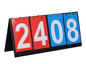 4 Digital Portable Table Top Scoreboard, Easy Flip Score Keeper
