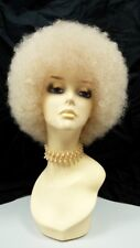 Afro Wig Small Light Blonde Curly Retro 1970s Disco Drag Costume