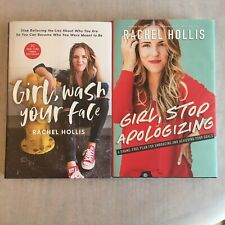 2-Book Rachel Hollis Lot: Girl, Wash Your Face & Girl, Stop Apologizing LIKE NEW