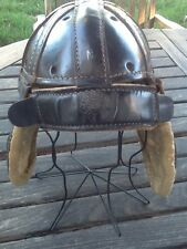 AWESOME Old Vintage 1920's ALL Leather Antique Football Helmet Early Minty Circa