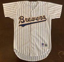 Rare Vintage 1992 Russell Athletic Mlb Milwaukee Brewers Baseball Jersey