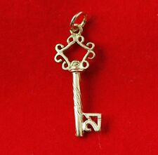 NEW 9ct Yellow Gold Solid 21st Key Pendant 375 Charm 9KT Free Shipping Option 9K
