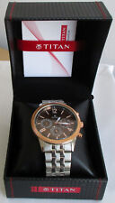 Titan Chronograph Men's Neo Blue Dial Multifunction Quartz Watch 1734KAAA