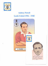 AUBREY POWELL LEEDS UNITED 1936-1948 RARE ORIG HAND SIGNED CUTTING/CARD GOOD