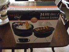 Grande Chef 2In1 Bbq Grill/Cooler Combo, New In Box