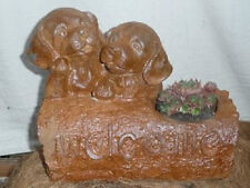 Cast Iron Browns Lab Dog Puppy Welcome Sign Log Home Garden Patio Planter Decor