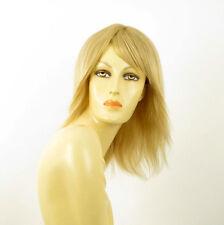 perruque femme 100% cheveux naturel longue blonde ref ROSALIE  22