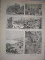 Dunster and Castle 1879 prints