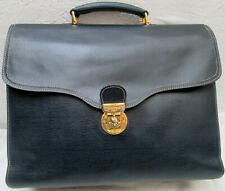 -AUTHENTIQUE   sac type cartable  LE TANNEUR cuir  TBEG vintage bag 70's