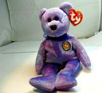 Retired Ty Beanie Babies Clubby IV  Bear  Beanbag Plush Stuffed Toy 2001