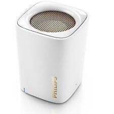 Philips BT100W wireless portable speaker Rechargeable Bluetooth BT100 White