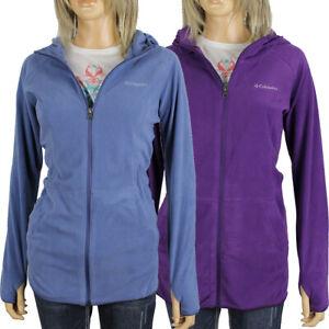 "New Womens Columbia ""Arctic Air"" Full  Zip Hooded Fleece Sweaters"