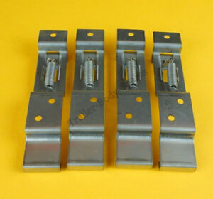 4 x Stainless Steel Oblong Quick Release Trailer Number Plate Clips