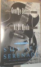 "Al Di Meola + George Benson 27"" Glossy 1992 CONCERT GIG POSTER DiMeola no-cd/lp"