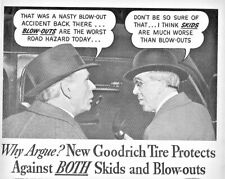 1940 BF Goodrich Tires Automobile Vintage Print Ad The New Safety Silvertown