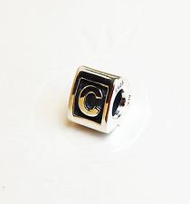 "Genuine Pandora Silver Charm ""Letter C"" - 790323C - retired"