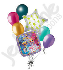 7 pc Shimmer & Shine Happy Birthday Balloon Bouquet Party Decoration Leah Magic